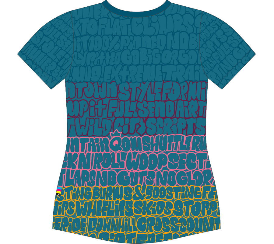 "City Scripts Event Tech Tee Wmn ""Bubblescript"""