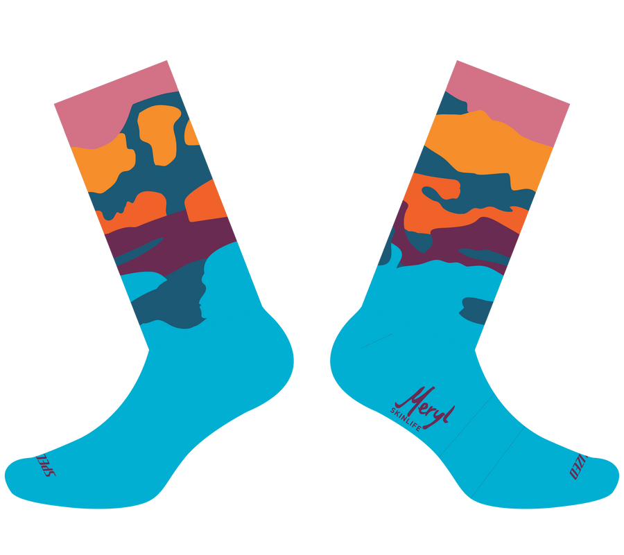 "City Scripts Socks ""Paint Spill"""