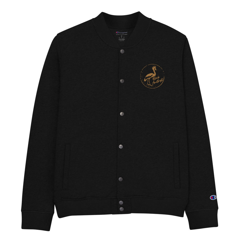 CraneStamp- Embroidered Champion Bomber Jacket