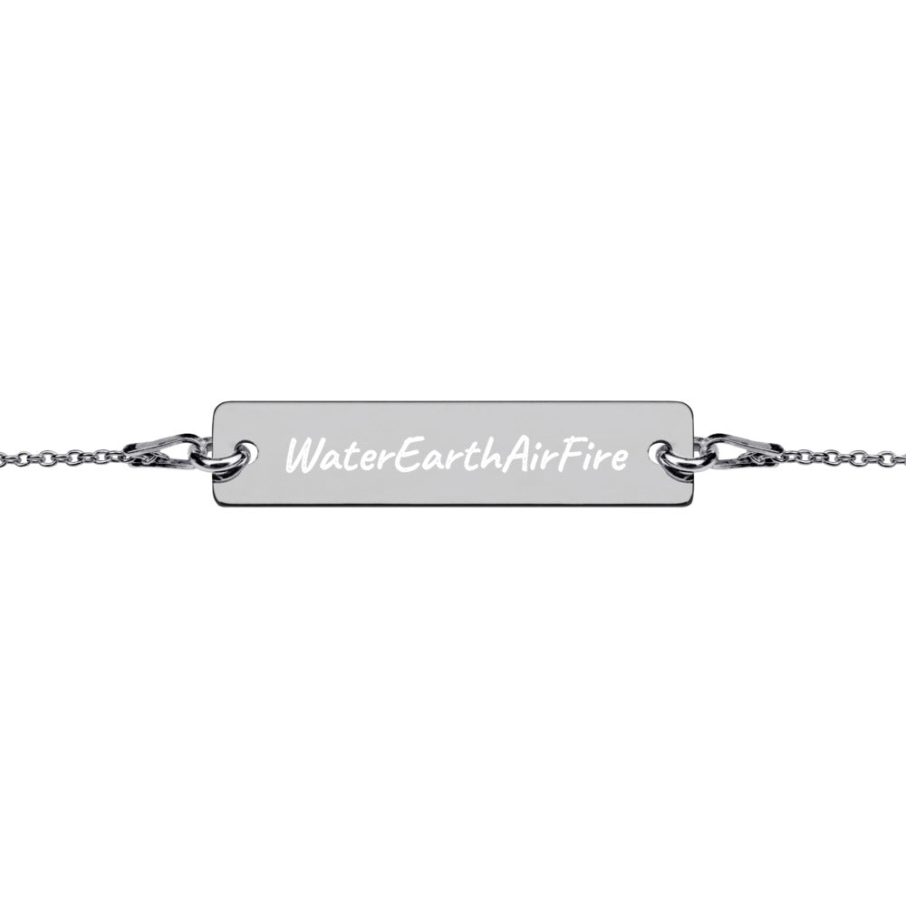Elements- Engraved Bar Chain Bracelet (four)