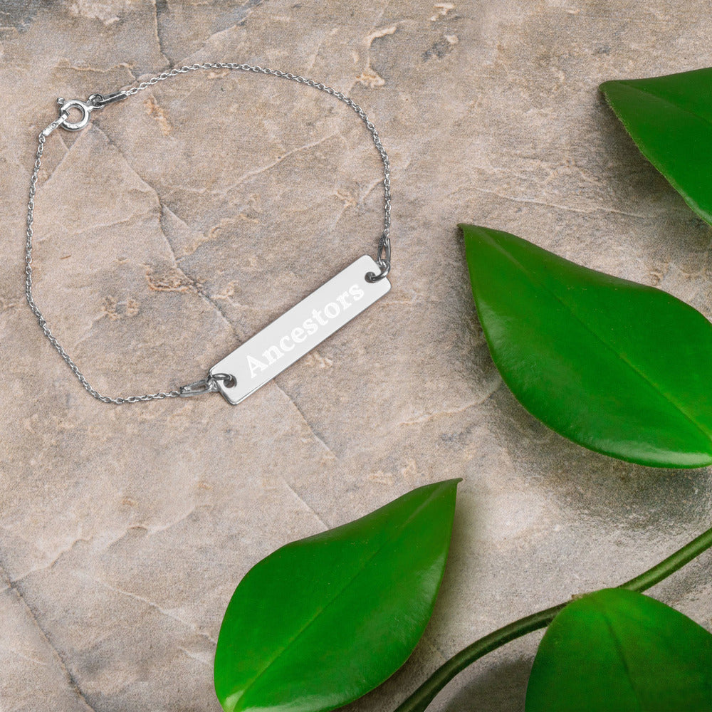 Statement- Engraved Bar Bracelet- Ancestors