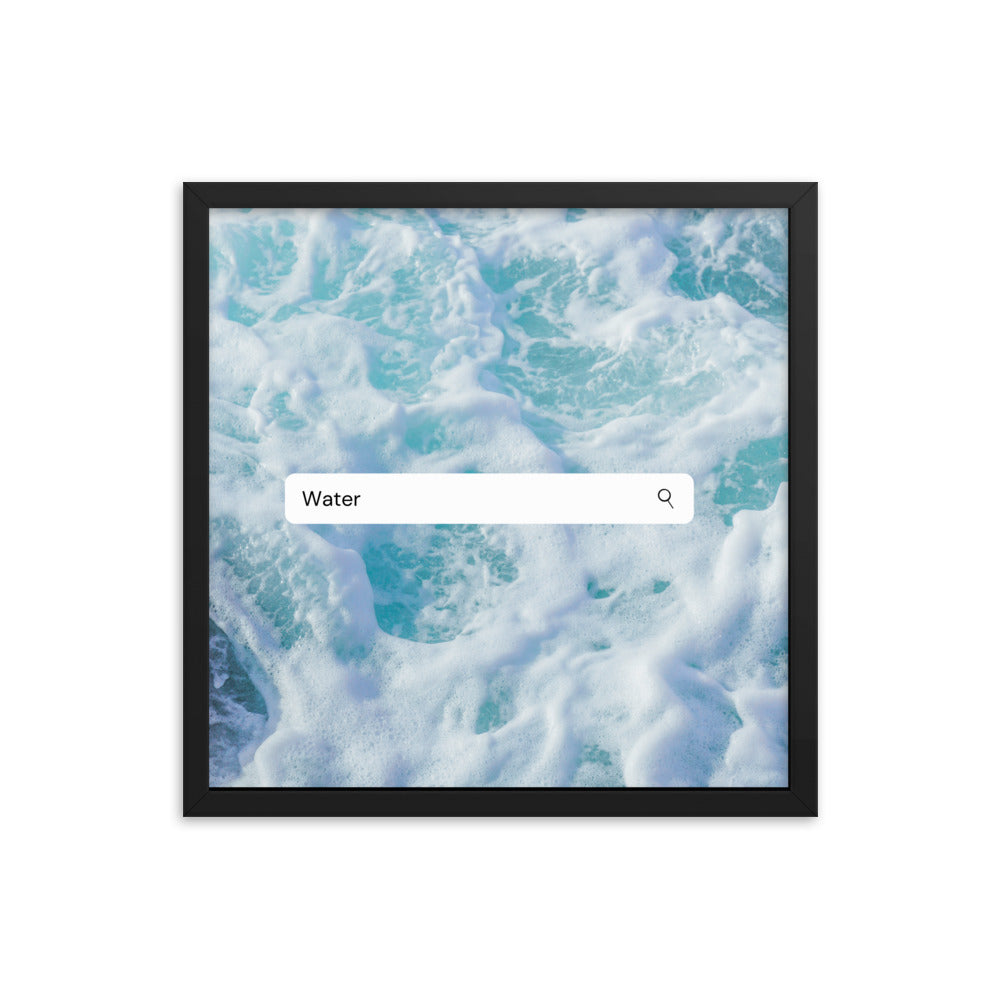 Elements- Water- Framed poster (SeaFoam)