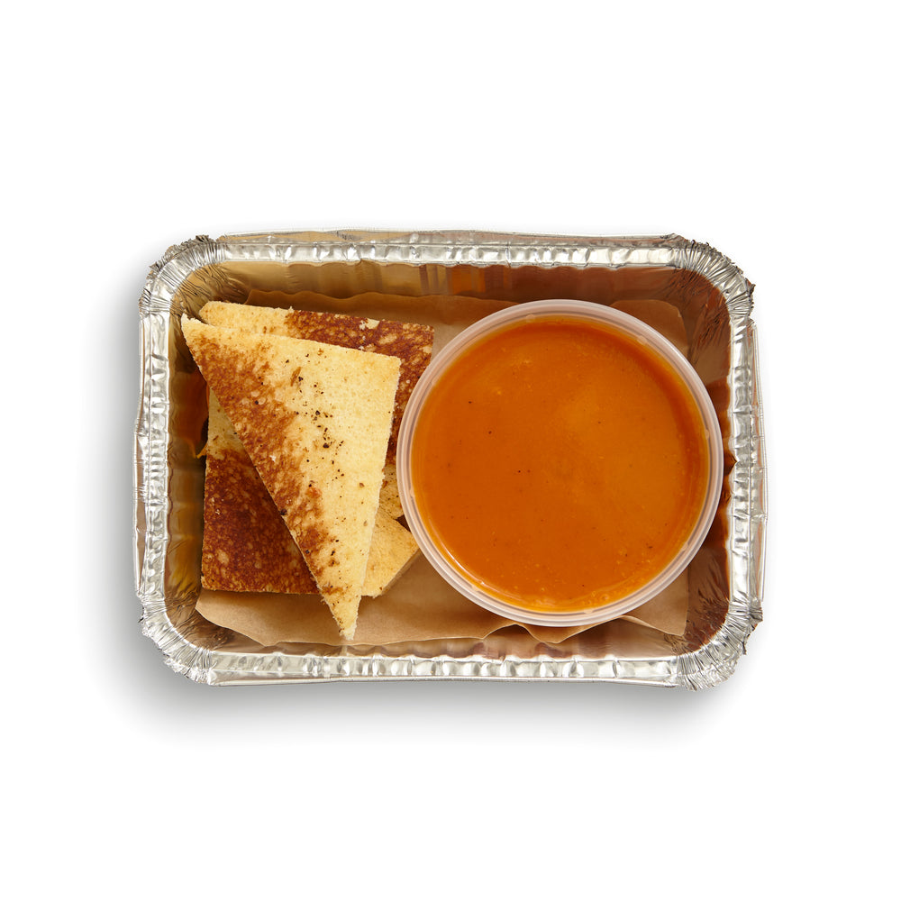 Brioche Grilled Cheese Dippers with San Marzano Tomato Soup
