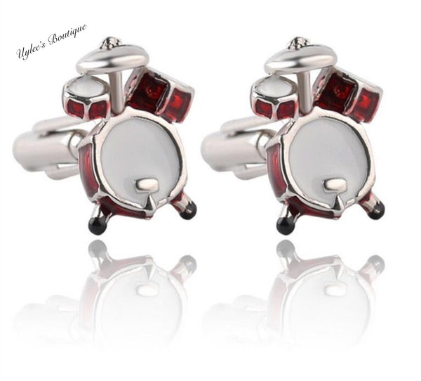 Drum Set Men's Cufflinks Set
