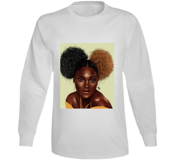 My Afro Puffs Long Sleeve T Shirt