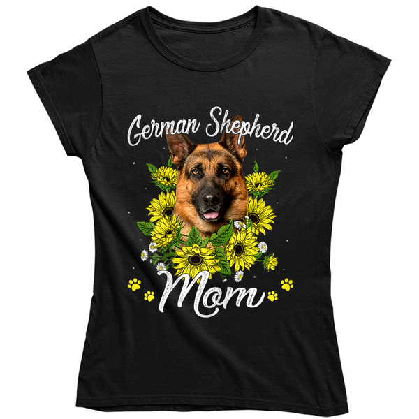 German Shepherd Mom Ladies T Shirt