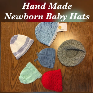 Brand New Hand Made New Born Baby Hats - 6 Patterns