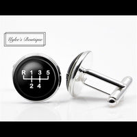 Gear Shift Men's Cuff Links - Novelty Cufflinks