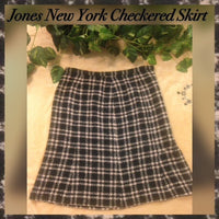 Jones New York Checkered Skirt, US Size 10