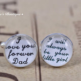 Cuff Links - Wedding Gift for a Daughter to a Father