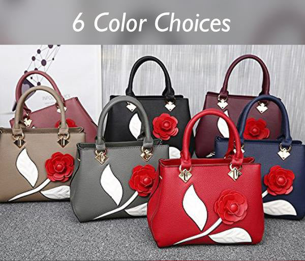 Roses Women's Hand Bag - 6 Color Choices