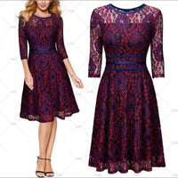 ✨Vintage Inspired Lace Cocktail Dress - Sizes  4 - 14,  👗 Purple