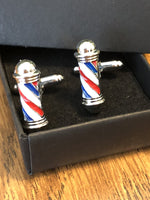 ✨Barber Shop Cufflinks Set - Gold or Silver