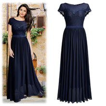Vintage Inspired Lace Top Long Formal Dress, US Sizes 4 - 14