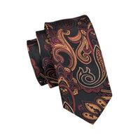 Men's Silk Coordinated Tie Set - Brown Paisley Blend