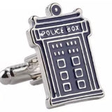Dr. Who TARDIS Silver Men's Cufflinks