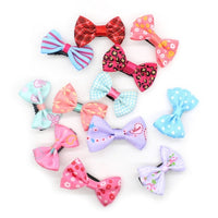 Little Girl Hair Bow Ties, 10-Pack