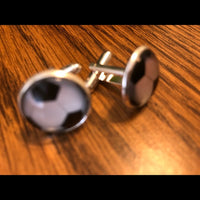 Football / Soccer Shaped Cuff Links -Novelty Links