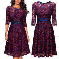 ✨Vintage Inspired Lace Cocktail Dress - US Sizes  4 - 14,  👗 Purple