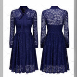 Retro Inspired  Blue Lace , Sizes 4 - 14