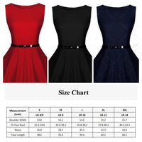 ✨Vintage Inspired Swing Dress, Navy Blue, Red or Black 👗 Sizes 4 - 14