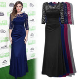 Formal Lace Pleated Evening Dress, US Sizes 4 - 16