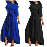 Halter Top Asymmetrical Hem Maxi Dress with Cardigan Top, Sizes Small - 3XLarge