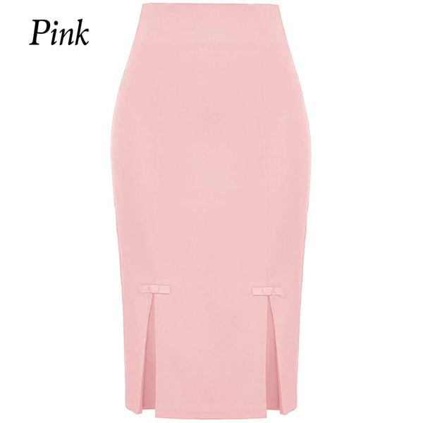 High Waist Pencil Skirt, Sizes Small - 3XLarge