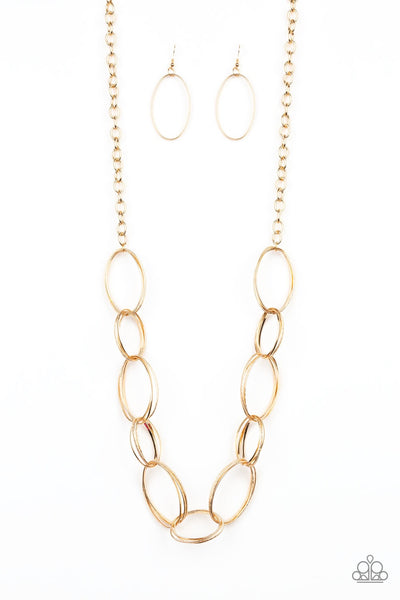 Ring Bling - Gold Necklace & Earring Set