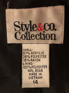 Style and Co Collection Full Length Jacket, US Size 14
