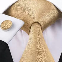 Men's Silk Coordinated Tie Set - Classic Gold
