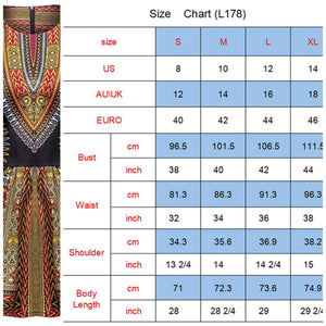 African Print Shirt Dashiki Traditional Top, Sizes Small - 4XLarge