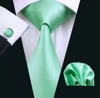 Men's Silk Coordinated Tie Sets- Mint Green