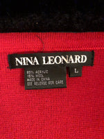 Nina Leonard Elegant Sweater Jacket, Size Large