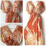 Plus Size Long Boho Maxi Dress, Sizes 2XL - 4XL