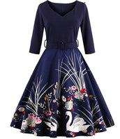 Retro Inspired Swing Dresses, Sizes Small - 4XLarge