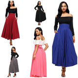 Fiyote High Waisted Skirts, 5 Color Options, Sizes Small To 2XLarge