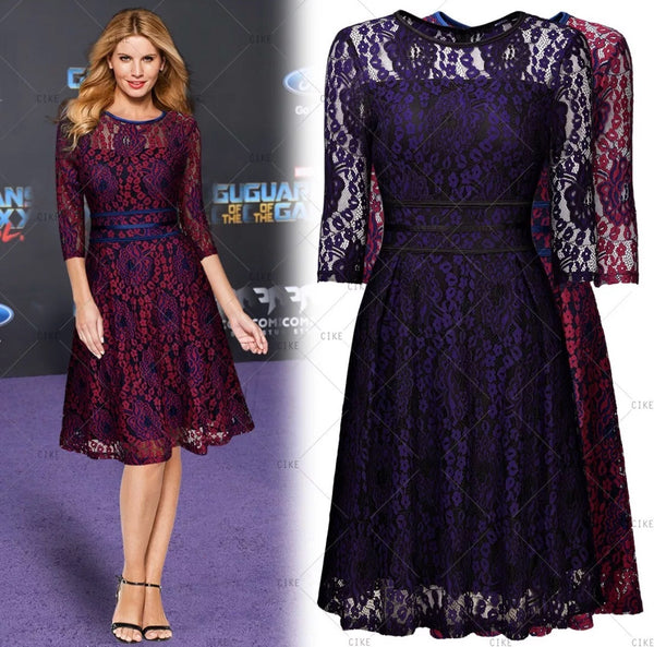 Vintage Inspired Lace Cocktail Dress - US Sizes 4 - 14