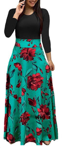 Long Length Printed Maxi Dresses, Sizes Small - XLarge (US Sizes 4 - 20)