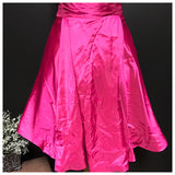 Lovely LITB Brand Plus Size Hot Pink Satin Dress, US Size 24W