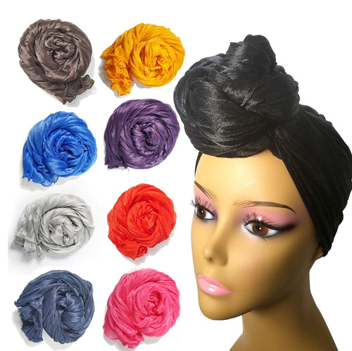 Long Stretch Head Wraps - Eleven Color Choices