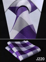 Men's Coordinated Tie Set - Purple Plaid