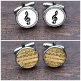 Musical Notes Novelty Cufflinks