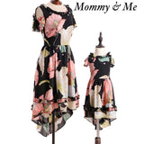 Mommy & Me Chiffon Floral Dress