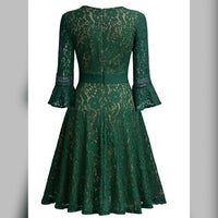 Elegant Lace Overlay Cocktail Dress,  US Sizes 4 - 20