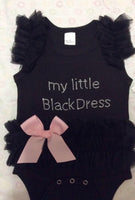 Baby Girls Embroidered Little Black Dress Bodysuit