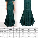 V-Neck Floral Lace Green Dress, Sizes Small - 2XLarge