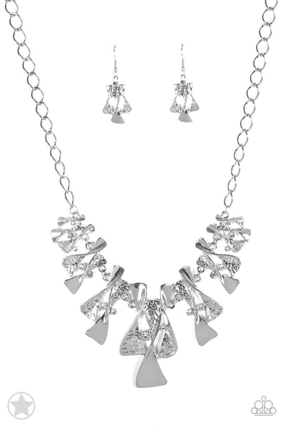 The Sands of Time - Silver Earring & Necklace Set