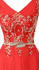 Tulle & Lace Dress with Applique Belt, US sizes 2 - 26Plus