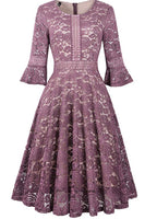 Full Lace Bell Sleeve Dress, Sizes Small - 2XLarge